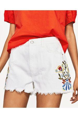 Mujer Shorts - Zara SHORT TIRO ALTO BORDADOS