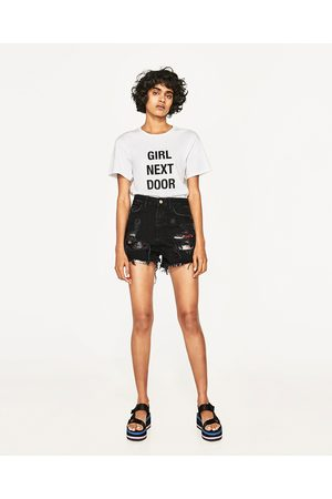 Mujer Shorts - Zara SHORT ROTOS Y LENTEJUELAS