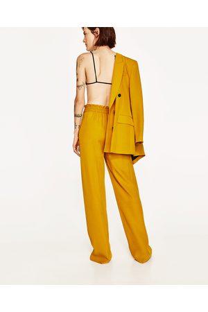 081e56e7c Pantalones tiro alto Pantalones Anchos Y De Harem de mujer color amarillo  ¡Compara ahora y compra al mejor precio!