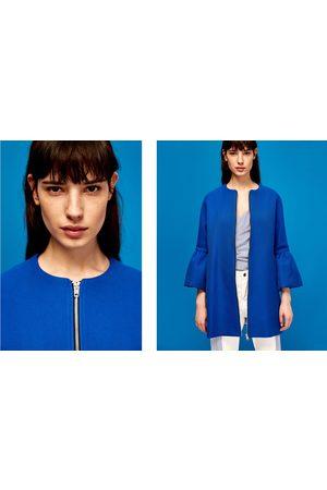 Mujer Abrigos - Zara ABRIGO MANGA VOLANTE - Disponible en más colores