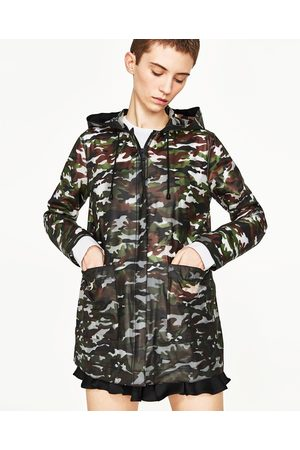 Mujer Parkas - Zara PARKA CAMUFLAJE WATER REPELLENT