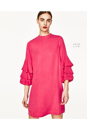 Mujer Vestidos - Zara VESTIDO MANGA VOLANTES - Disponible en más colores