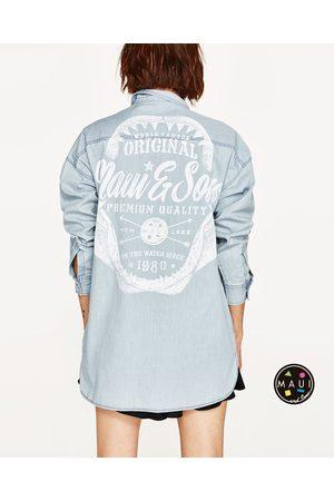 Estampación And Zara ® Oversize Camisa Sons Mujer Denim De Mezclilla Maui RqBRYxp