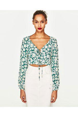Flores Camisas de mujer color verde ¡Compara ahora y compra