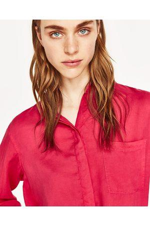 Mujer Camisas - Zara CAMISA OVERSIZE ABERTURAS - Disponible en más colores