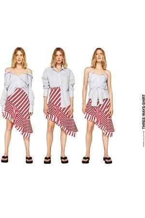 Mujer Camisas - Zara CAMISA RAYAS MULTIPOSICIONES