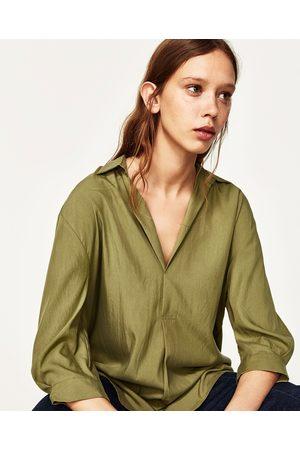 b114571e9 Blusas de mujer Zara blusas y camisas ¡Compara ahora y compra al mejor  precio!