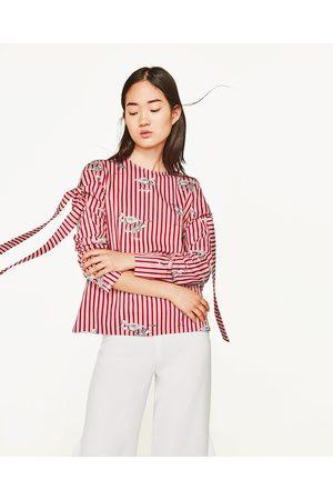 Mujer Camisas - Zara CUERPO ESTAMPADO MANGA LAZO