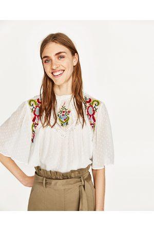 Mujer Blusas - Zara BLUSA PLUMETI BORDADO FLORAL