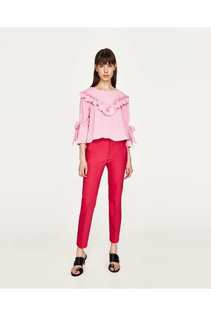 Y ¡compara Mujer Pantalones De Cinturones Tirantes Ahora Zara 1dwYnqH dae1002df57