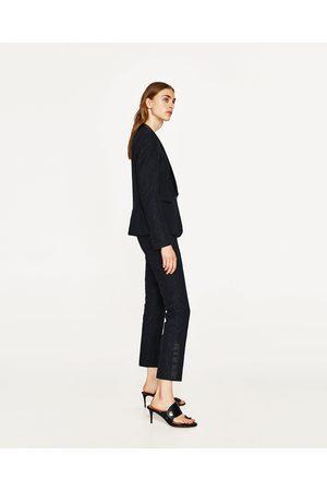 Mujer Pantalones y Leggings - Zara PANTALÓN SMOKING ENCAJE