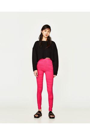 Mujer Leggings y treggings - Zara LEGGING DRAPEADO - Disponible en más colores