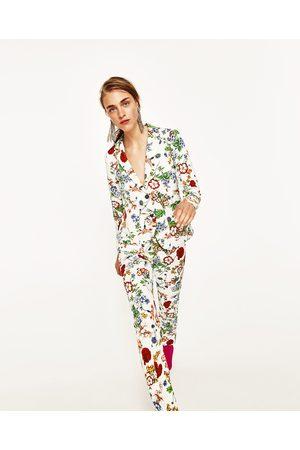 Mujer Pantalones y Leggings - Zara PANTALÓN FLORES