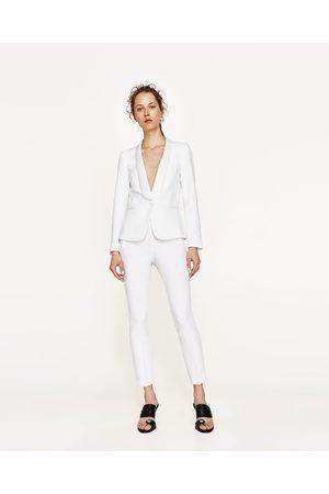 Mujer Pantalones y Leggings - Zara PANTALÓN TOBILLERO SMOKING - Disponible en más colores