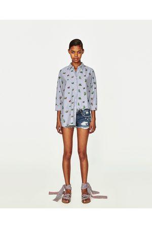 Mujer Shorts - Zara SHORT ROTOS