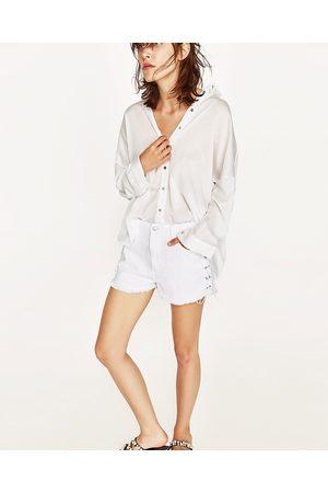 Mujer Shorts - Zara SHORT MOM FIT LAZOS