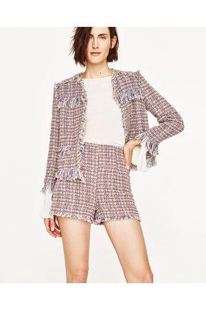 Mujer Shorts - Zara BERMUDA ESTRUCTURA TIRO ALTO