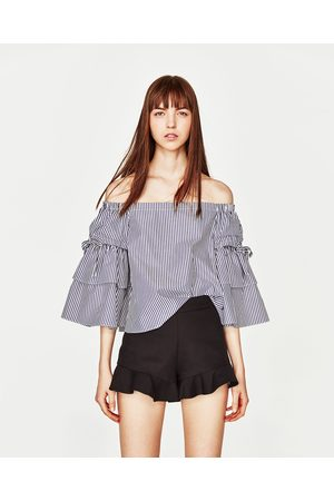 Mujer Shorts - Zara SHORT TIRO ALTO VOLANTE - Disponible en más colores