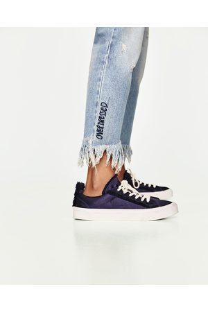 Mujer Jeans - Zara JEANS MOM FIT ROTOS