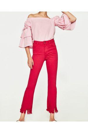 Mujer Acampanados - Zara JEANS MINI FLARE TIRO ALTO CROPPED - Disponible en más colores