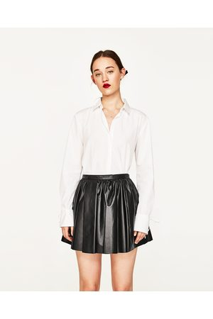 Mujer Minifaldas - Zara FALDA MINI PIEL STUDIO