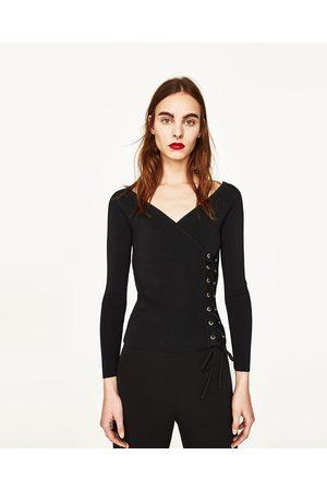 Mujer Suéteres - Zara JERSEY ESCOTE CORAZÓN - Disponible en más colores