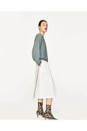 Mujer Suéteres - Zara JERSEY MANGA DRAPEADA - Disponible en más colores
