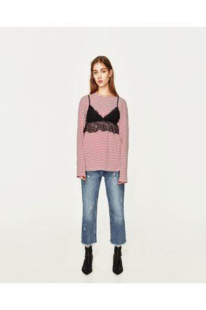 Mujer Crop tops - Zara CROP TOP ENCAJE