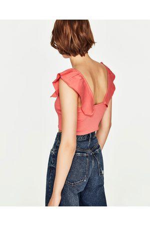 Mujer Tops - Zara TOP CORTO VOLANTE - Disponible en más colores