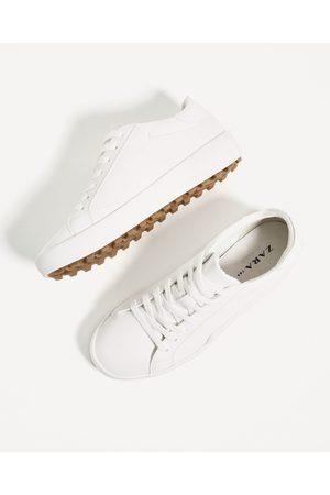 Chaussures De Tennis Zara White Pour Femmes Comparer Et Acheter Au Meilleur Prix