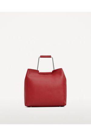 Mujer Bolsas - Zara SHOPPER BLANDO ASA METÁLICAS - Disponible en más colores