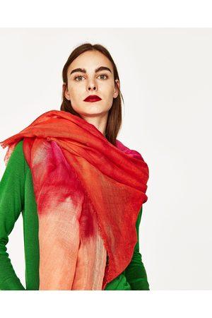 Mujer Mascadas - Zara PAÑUELO LINO TIE-DYE - Disponible en más colores