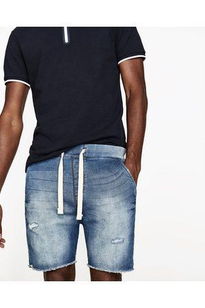 Hombre Bermudas - Zara BERMUDA DENIM FELPA - Disponible en más colores