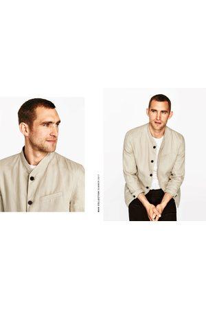 Hombre Sacos - Zara BLAZER LINO MAO - Disponible en más colores