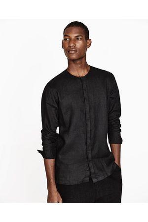 Hombre Camisas - Zara CAMISA LINO - Disponible en más colores