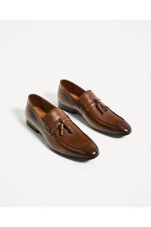 zapatos zara hombre cafe
