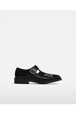 Hombre Zapatos - Zara ZAPATO ABIERTO PIEL CON HEBILLAS