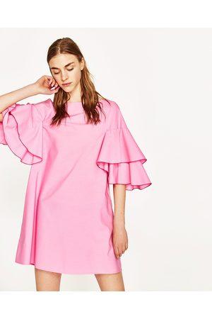 Mujer Vestidos - Zara VESTIDO MANGA VOLANTES