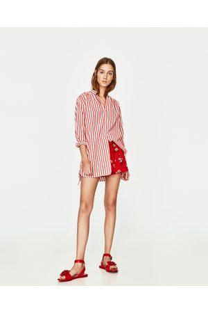 Vestido de rayas rojas y blancas de zara