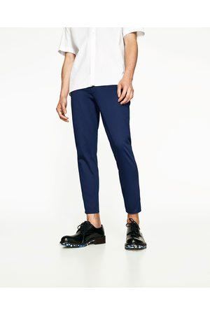 pantalones de algodon hombre zara
