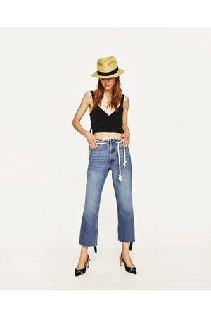 Cinturones Zara Moda Mujer Mezclilla Pantalones De Y Tirantes 6qxrRwvA6 10dced85335
