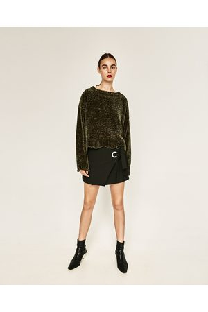 Mujer Suéteres - Zara JERSEY CROPPED CUELLO CAJA - Disponible en más colores