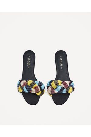 Mujer Zapatos - Zara PALA NUDO ABALORIOS