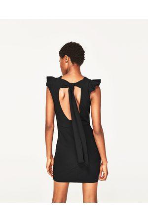 Zara Espalda Abierta Vestido Espalda Vestido Lazo Zara 1f8nn6