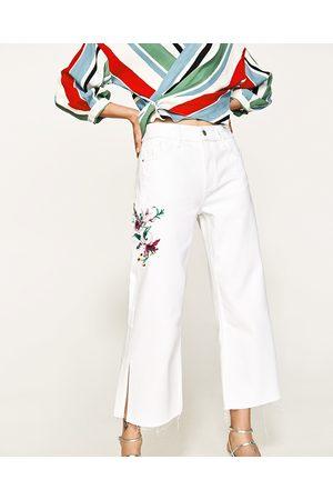 Mujer Jeans - Zara JEANS BORDADO FLORES