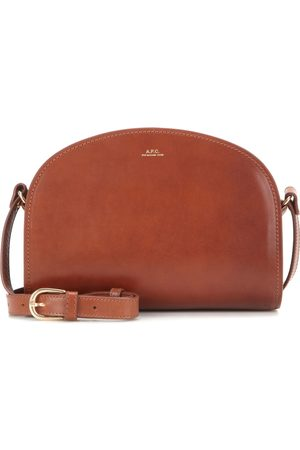 A.P.C Mujer Bolsas de mano - Demi-Lune leather shoulder bag
