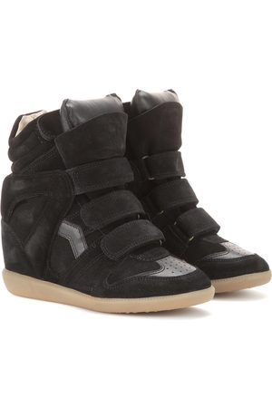 Isabel Marant Bekett leather and suede sneakers