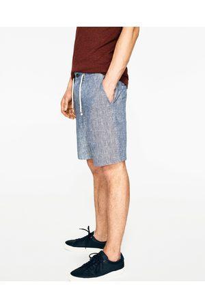Hombre Bermudas - Zara BERMUDA LINO CORDÓN - Disponible en más colores