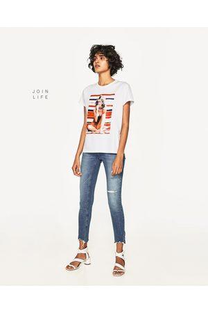 Mujer Jeans - Zara JEANS TIRO MEDIO ROTOS