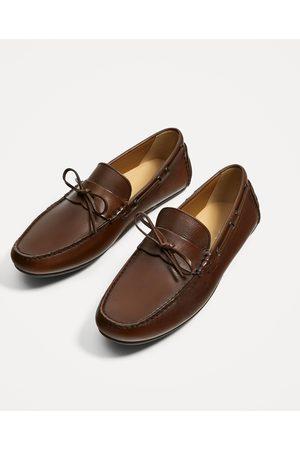 Hombre Zara Marrón Mocasín Zapatos Piel 14Hrq1w
